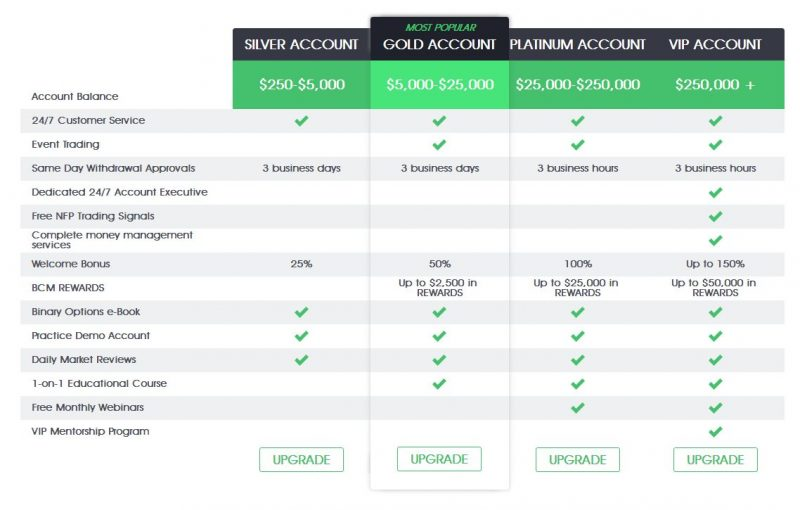 bcm accounts review