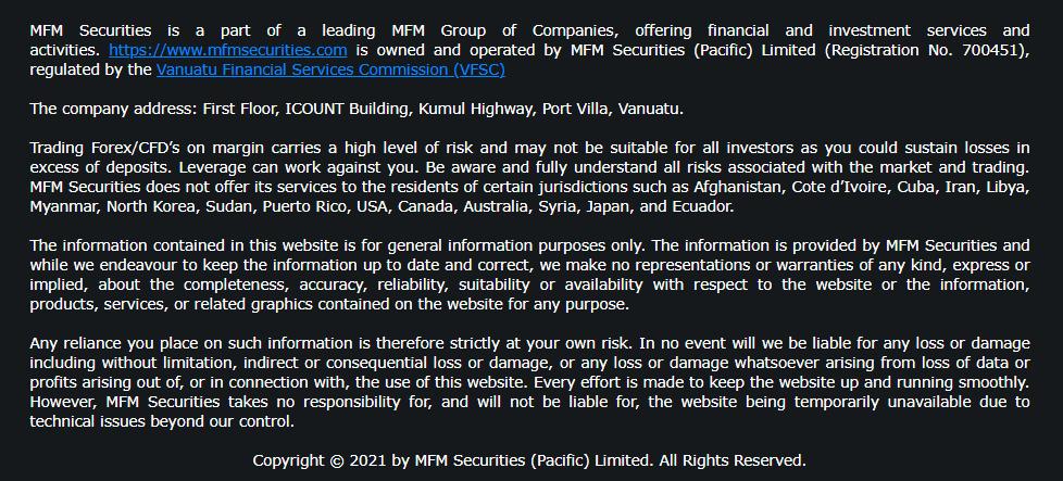 MFM securities Forex Broker